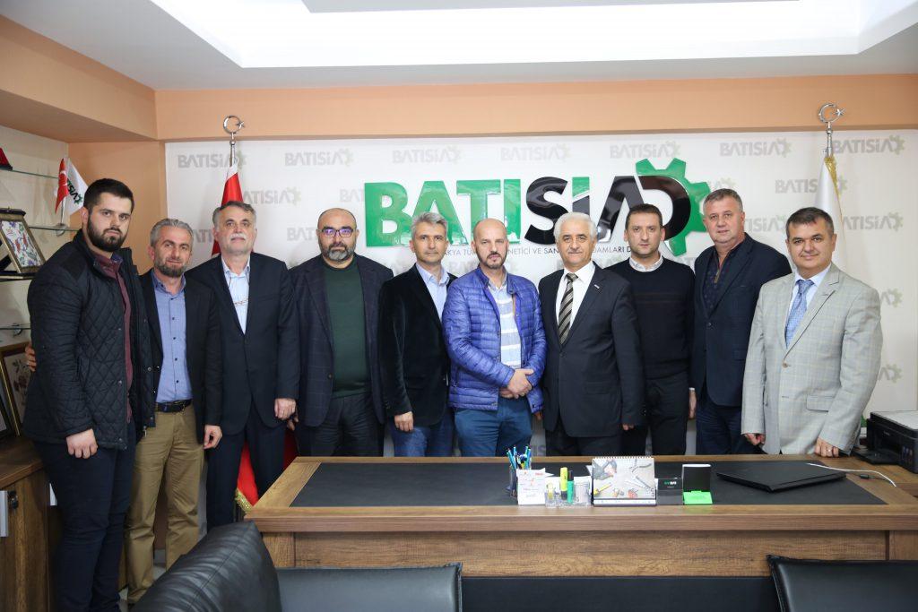 Albay Şerif Patkoviç ve Bursa İlahiyat Mezunları Derneği Başkanı Mükerrem Özdemir
